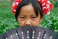 Chine. Province du Guizhou. Jeune fille Miao. // China. Guizhou province. Young Miao girl.