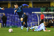 Ollie Clarke gets away from Jamie Allen during the The FA Cup third round replay match between Coventry City and Bristol Rovers at the Trillion Trophy Stadium, Birmingham, England on 14 January 2020.