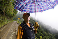 Oscar Ebert guiding and driving in the Yungas region while working with Nat Geo TV special on the World's Most Dangerous Road shoot.