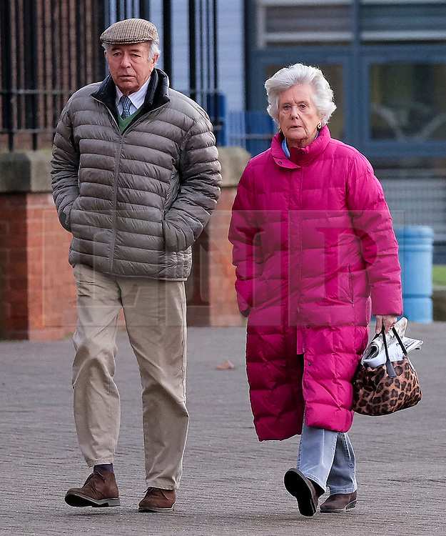 © Licensed to London News Pictures. <br /> 03/01/2017. <br /> Middlesbrough, UK.  <br /> <br /> Lady SUSAN ZETLAND, of the Zetland Estate, north of Richmond, arrives at Teesside Crown Court with her husband, Lord Zetland after being charged with dangerous driving following a crash on the A66 in July 2016.<br /> <br /> The 76-year-old, whose family owns 12,000 acres of North Yorkshire was behind the wheel of her £30,000 Subaru Outback 4X4 when it was involved in a collision with two HGVs and another car. <br /> <br /> Photo credit: Ian Forsyth/LNP