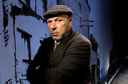 Arts4/18/05 August Wilson<br /> Pulitzer-prize winning playwright August Wilson on the set of &quot;Radio Golf&quot;, the last play in his cycle. Photo by Mara Lavitt