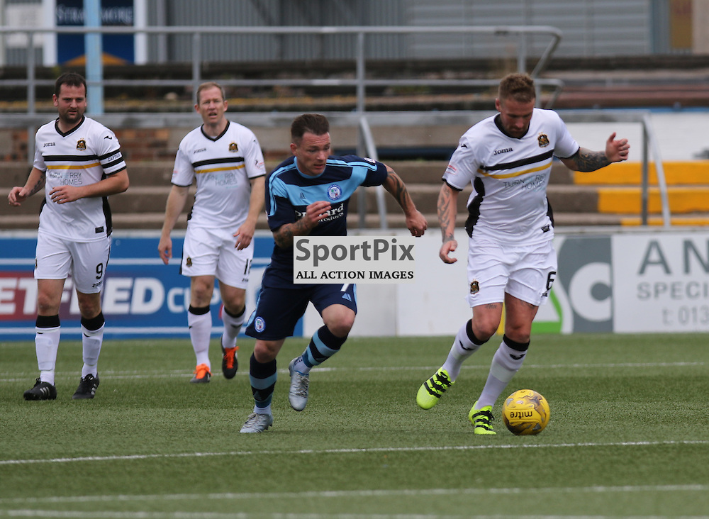 David Cox Chases Ryan Stevenson during the  Forfar v Dumbarton Scottish League Cup group stage 16 July 2016<br /> <br /> (c) Andy Scott | SportPix.org.uk
