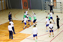 Team during the Training Camp before IHF Men's Handball World Championship Spain 2013 on January 9, 2013 in Zrece, Slovenia. (Photo By Vid Ponikvar / Sportida.com)