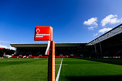Premiership Rugby flag at Ashton Gate - Rogan/JMP - 06/10/2019 - RUGBY UNION - Ashton Gate Stadium - Bristol, England - Bristol Bears v London Irish - Premiership Rugby Cup.