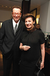LORD & LADY SAATCHI at a Valentine's Party in aid of Chickenshed held at De Beers, 50 Old Bond Street, London W1 on 6th Fbruary 2008.<br />