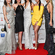 Julia Titova, Roksana Slyahtitch, Anastasiya Vinikovska and guests attend the Grand Final MISS USSR UK 2019 at Hilton hotel London on 27 April 2019, London, UK.