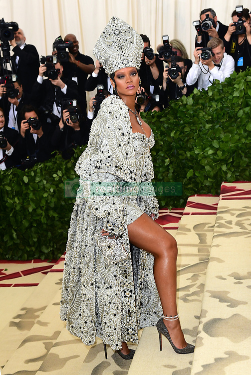 Rihanna attending the Metropolitan Museum of Art Costume Institute Benefit Gala 2018 in New York, USA.
