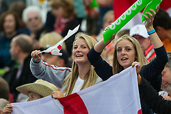 England supporters. England v The Netherlands - Final Unibet EuroHockey Championships, Lee Valley Hockey & Tennis Centre, London, UK on 30 August 2015. Photo: Simon Parker