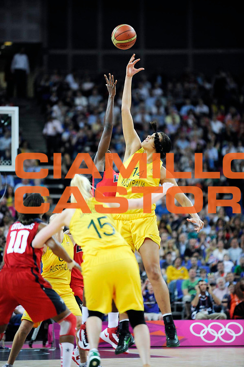 DESCRIZIONE : Basketball Jeux Olympiques Londres Demi finale<br /> GIOCATORE : Cambage Elizabeth AUS<br /> SQUADRA : Australie FEMME<br /> EVENTO : Basketball Jeux Olympiques<br /> GARA : USA AUSTRALIE<br /> DATA : 09 08 2012<br /> CATEGORIA : Basketball Jeux Olympiques<br /> SPORT : Basketball<br /> AUTORE : JF Molliere <br /> Galleria : France JEUX OLYMPIQUES 2012 Action<br /> Fotonotizia : Jeux Olympiques Londres demi Finale Femme Greenwich Arena<br /> Predefinita :