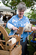 Patricia Kirwan Dolye Connemara spinning some wool at the Market day in Clarinbridge  marking the start of the weeklong Oyster festival celebrations with the highlight next weekend  Photo:Andrew Downes