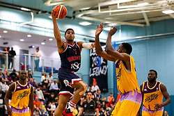 Justin Gray of Bristol Flyers shoots - Photo mandatory by-line: Robbie Stephenson/JMP - 10/04/2019 - BASKETBALL - UEL Sports Dock - London, England - London Lions v Bristol Flyers - British Basketball League Championship