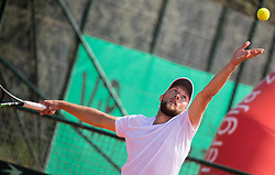 Tom Kocevar Desman of Slovenia playing doubles during Davis Cup 2018 Europe/Africa zone Group II between Slovenia and Turkey, on April 8, 2018 in Portoroz / Portorose, Slovenia. Photo by Vid Ponikvar / Sportida
