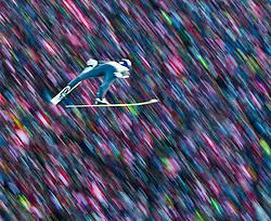 03.01.2011, Bergisel, Innsbruck, AUT, Vierschanzentournee, Innsbruck, 1. Wertungsdurchgang, im Bild // Sieger Thomas Morgenstern, AUT über den Zuschauern am Innsbrucker Bergisel, Wischer, Mitzieher // during the 59th Four Hills Tournament First Jump in Innsbruck, EXPA Pictures © 2011, PhotoCredit: EXPA/ J. Feichter