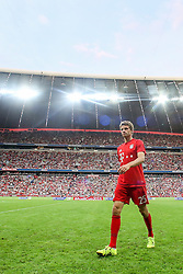 04.08.2015, Allianz Arena, Muenchen, GER, AUDI CUP, Real Madrid vs Tottenham Hotspur, im Bild Thomas Mueller (FC Bayern Muenchen #25) im Innenraum // during the 2015 AUDI Cup Match between Real Madrid CF and Tottenham Hotspur at the Allianz Arena in Muenchen, Germany on 2015/08/04. EXPA Pictures © 2015, PhotoCredit: EXPA/ Eibner-Pressefoto/ Schüler<br /> <br /> *****ATTENTION - OUT of GER*****