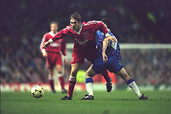 LIVERPOOL, ENGLAND - Saturday, January 6, 1996: Liverpool's Jason McAteer in action against Rochdale during the FA Cup 3rd Round match at Anfield. (Photo by David Rawcliffe/Propaganda)