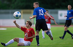 Damjan Trifkovic of Rudar vs Oleg Lepik at 1st Round of Europe League football match between NK Rudar Velenje (Slovenia) and Trans Narva (Estonia), on July 9 2009, in Velenje, Slovenia. Rudar won 3:1 and qualified to 2nd Round. (Photo by Vid Ponikvar / Sportida)