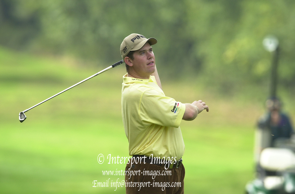 Peter Spurrier Sports  Photo.email pictures@rowingpics.com.Tel 44 (0) 7973 819 551.CISCO Match Play Championship - Wentworth.Sat. 13th Oct 2001.Lee Westwood...[Mandatory Credit Peter Spurrier/ Intersport Images]
