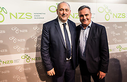 Radenko Mijatovic, president of NZS and Tomaz Kavcic, head coach of Slovenian National Team during Traditional New Year party of of the Slovenian Football Association - NZS, on December 18, 2017 in Kongresni center, Brdo pri Kranju, Slovenia. Photo by Vid Ponikvar / Sportida