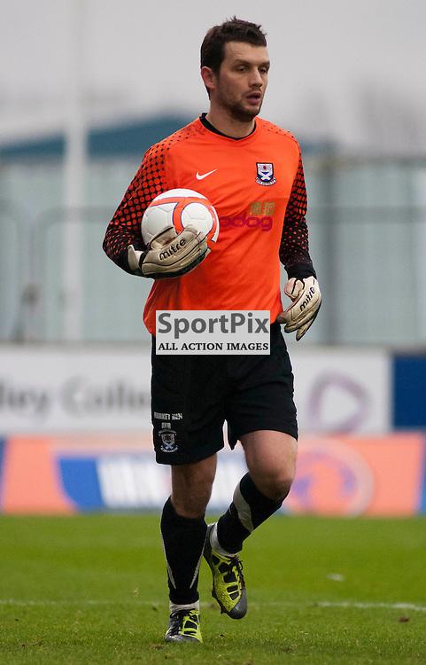 Ayr keeper Kevin Cuthbert ,Falkirk v Ayr, SFL Division 1 League Match, Falkirk Stadium