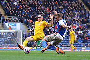 Preston North End Midfielder Alan Browne challenges during the Sky Bet Championship match between Blackburn Rovers and Preston North End at Ewood Park, Blackburn, England on 2 April 2016. Photo by Pete Burns.
