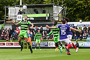 Forest Green Rovers Christian Doidge(9) controls the ball during the EFL Sky Bet League 2 match between Forest Green Rovers and Exeter City at the New Lawn, Forest Green, United Kingdom on 9 September 2017. Photo by Shane Healey.