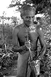 BANGLADESH DINAJPUR OCT94 - An elderly Hindu farmer poses for a portrait in rural Dinajpur, northern Bangladesh...jre/Photo by Jiri Rezac..© Jiri Rezac 1994