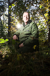 Patrick McGlinchey, founder and chief instructor of Backwoods Survival School, at Cambuslang. Backwoods' aim is to teach students not only how to survive, but to thrive in the natural environment - as our ancestors did and as many indigenous peoples still do..Pic ©2010 Michael Schofield. All Rights Reserved.