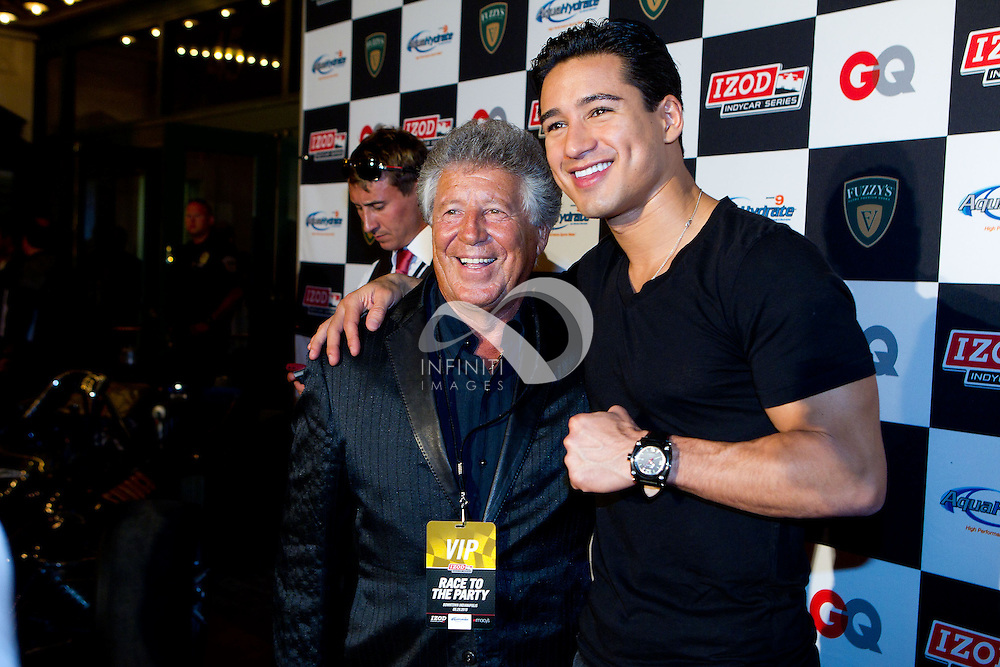 Mario Andretti and Mario Lopez seen at the Fantasy 500 party in Indianapolis, Indiana. Photo by Michael Hickey, Infiniti Images Corporate event photography by Infiniti Images