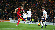 Blackburn Rovers Jordan Rhodes strikes during the Sky Bet Championship match between Preston North End and Blackburn Rovers at Deepdale, Preston, England on 21 November 2015. Photo by Pete Burns.