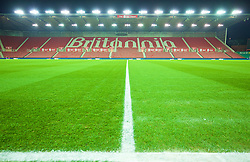 STOKE-ON-TRENT, ENGLAND - Tuesday, January 5, 2016: A general view of Stoke City's Britannia Stadium before the Football League Cup Semi-Final 1st Leg match against Liverpool. (Pic by David Rawcliffe/Propaganda)