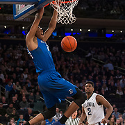 March 11, 2017:  Creighton Bluejays center Justin Patton (23) dunks the ball at The 35th Big East Tournament during the game between The Villanova Wildcats and The Creighton Bluejays at Madison Square Garden, New York, New York. Mandatory credit: Kostas Lymperopoulos/CSM (Credit Image: © Kostas Lymperopoulos/Cal Sport Media)