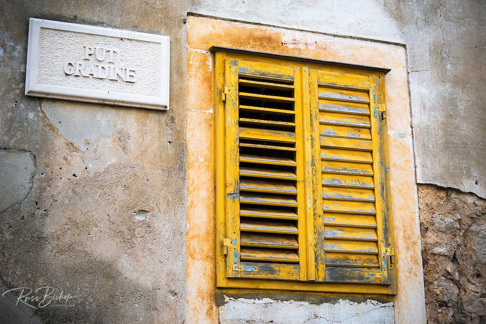 Window shutter and door, Skradin, Dalmatia, Croatia