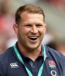 Dylan Hartley attends the match between England and Barbarians - Mandatory by-line: Robbie Stephenson/JMP - 28/05/2017 - RUGBY - Twickenham Stadium - London, England - England v Barbarians - Old Mutual Wealth Cup