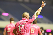 Zurabi Zhvania makes a call during the European Rugby Challenge Cup match between Edinburgh Rugby and Stade Francais at Murrayfield Stadium, Edinburgh, Scotland on 12 January 2018. Photo by Kevin Murray.