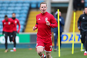 Middlesbrough midfielder Grant Leadbitter (7) in warm up during the EFL Sky Bet Championship match between Millwall and Middlesbrough at The Den, London, England on 16 December 2017. Photo by Phil Duncan.
