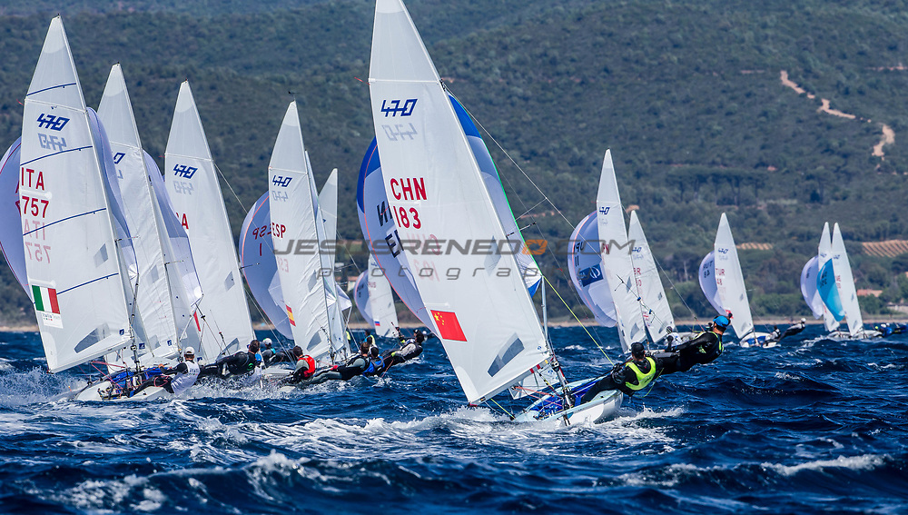 The 2017 World Cup Series in Hyères, France from 23-30 April will welcome over 540 sailors from 52 nations racing across the ten Olympic events as well as Open Kiteboarding and the 2.4 Norlin OD, a Para World Sailing event. @Jesus Renedo / Sailing Energy / World Sailing