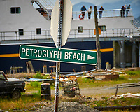 Petroglyph Beach in Wrangell. Image taken with a Nikon D300 camera and 70-300 mm VR lens.