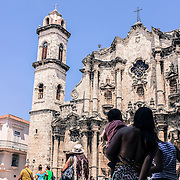 La cattedrale dell'Havana, nel centro storico della città, Habana vieja