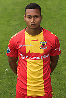 Joey Groenbast during the team presentation of Go Ahead Eagles on July 15, 2016 at the Adelaarshorst Stadium in Deventer, The Netherlands.