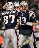 New England Patriots quarterback Tom Brady yells towards the Green Bay Packers bench after a touchdown by running back Benjarvus Green-Ellis (not pictured) in the first quarter at Gillette Stadium in Foxboro, Massachusetts on December 19, 2010.    UPI/Matthew Healey