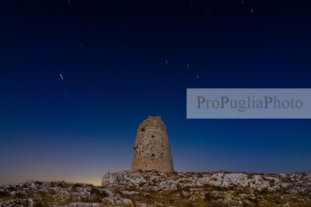 Torre Sant'Emiliano (Otranto / Porto Badisco) in una notte di luna piena