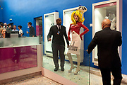 PANDEMONIA PANDEMONIA WITH SECURITY MEN, HOUSE OF BLUEEYES Ð show  in the Undercover exhibition. Fashion and Textile Museum, Bermondsey Street<br /> London. 25 July 2009<br /> PANDEMONIA PANDEMONIA WITH SECURITY MEN, HOUSE OF BLUEEYES ? show  in the Undercover exhibition. Fashion and Textile Museum, Bermondsey Street<br /> London. 25 July 2009