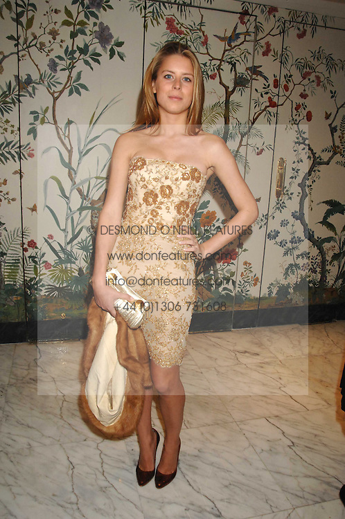 LYDIA FORTE  at the Chain of Hope Ball held at The Dorchester, Park Lane, London on 4th February 2008.<br /><br />NON EXCLUSIVE - WORLD RIGHTS