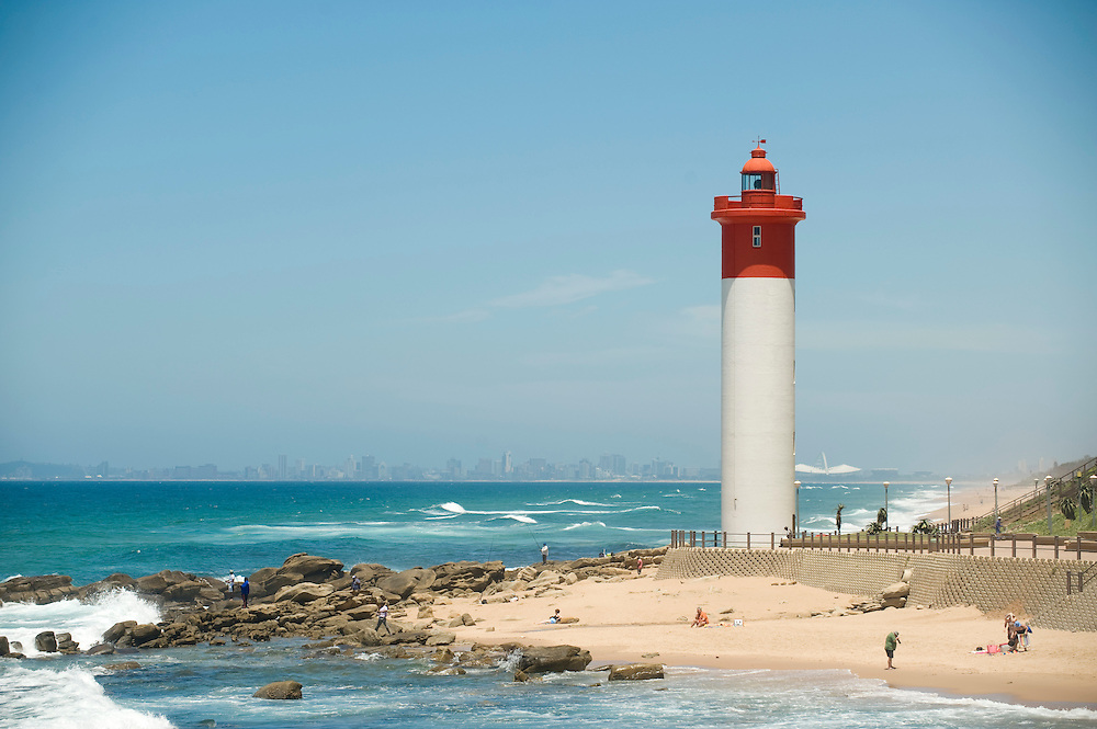 Umhlanga Rocks Lighthouse.  Near Durban, South Africa.