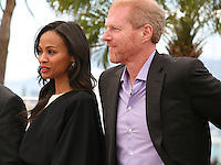 Zoé Saldana, Noah Emmerich, at the Blood Ties film photocall at the Cannes Film Festival Monday 20th May 2013