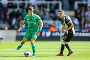 Kiko Femenia (#21) of Watford on the ball during the Premier League match between Newcastle United and Watford at St. James's Park, Newcastle, England on 31 August 2019.