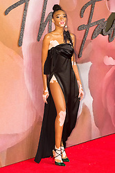 © Licensed to London News Pictures. 05/12/2016. WINNIE HARLOW arrives for The Fashion Awards 2016 celebrating the best of British and international fashion. London, UK. Photo credit: Ray Tang/LNP