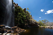 Santana do Riacho_MG, Brasil...Cachoeira no Alto Palacio no Parque Nacional da Serra do Cipo...The waterfall in Alto Palacio in the Serra do Cipo National Park...Foto: JOAO MARCOS ROSA / NITRO