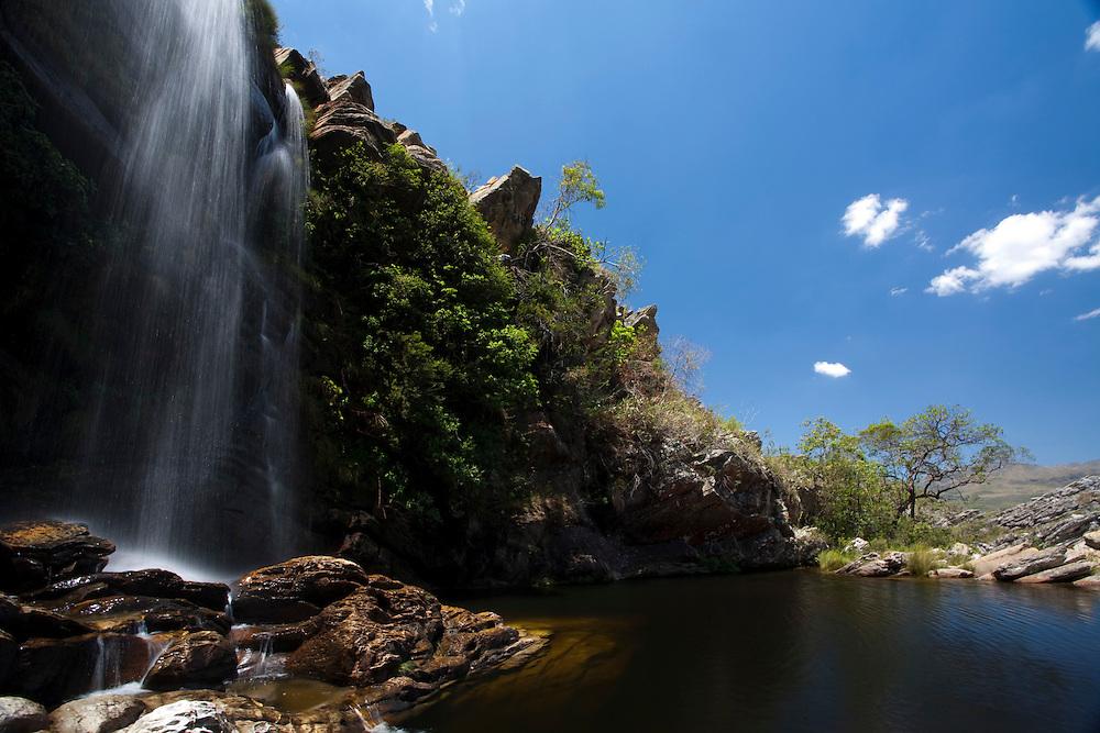 Santana do Riacho_MG, Brasil...Cachoeira no Alto Palacio no Parque Nacional da Serra do Cipo...The waterfall in Alto Palacio in the Serra do Cipo National Park...Foto: JOAO MARCOS ROSA / NITRO