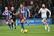 Kyle Wootton of Scunthorpe United makes headway up the field  during the Sky Bet League 1 match between Scunthorpe United and Sheffield Utd at Glanford Park, Scunthorpe, England on 19 December 2015. Photo by Ian Lyall.